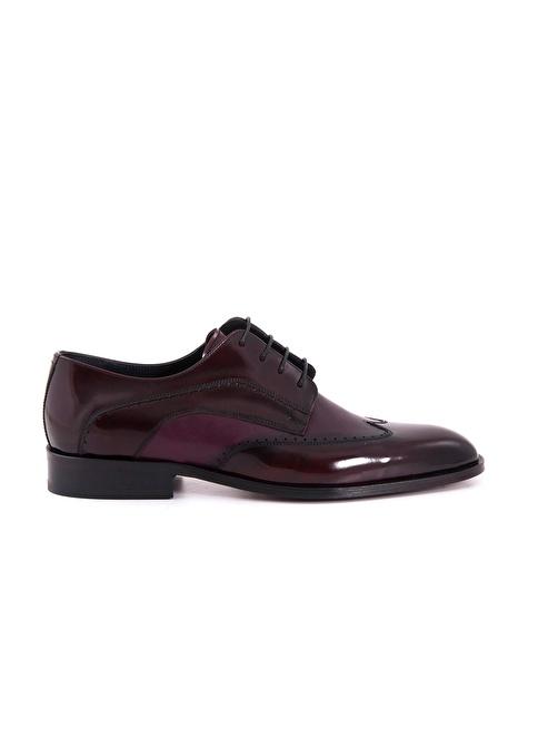 Kemal Tanca %100 Deri Bağcıklı Klasik Ayakkabı Bordo